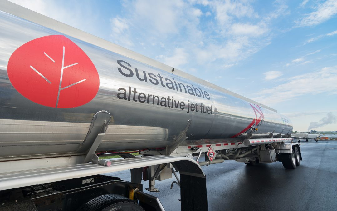 Avfuel Delivers SAF to Bombardier