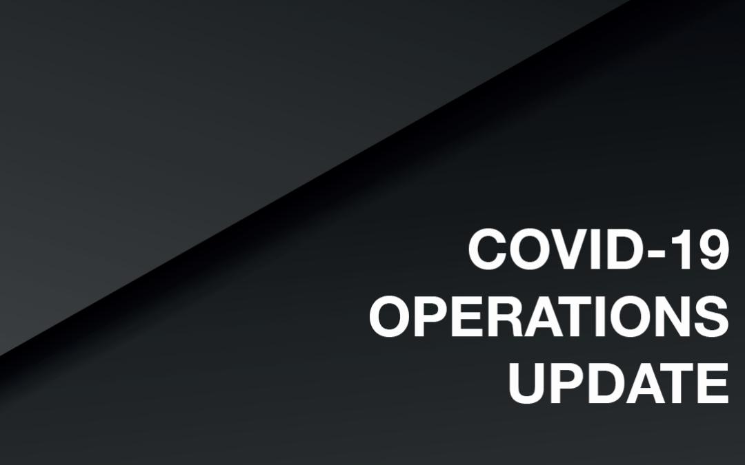 COVID-19 OPS UPDATE